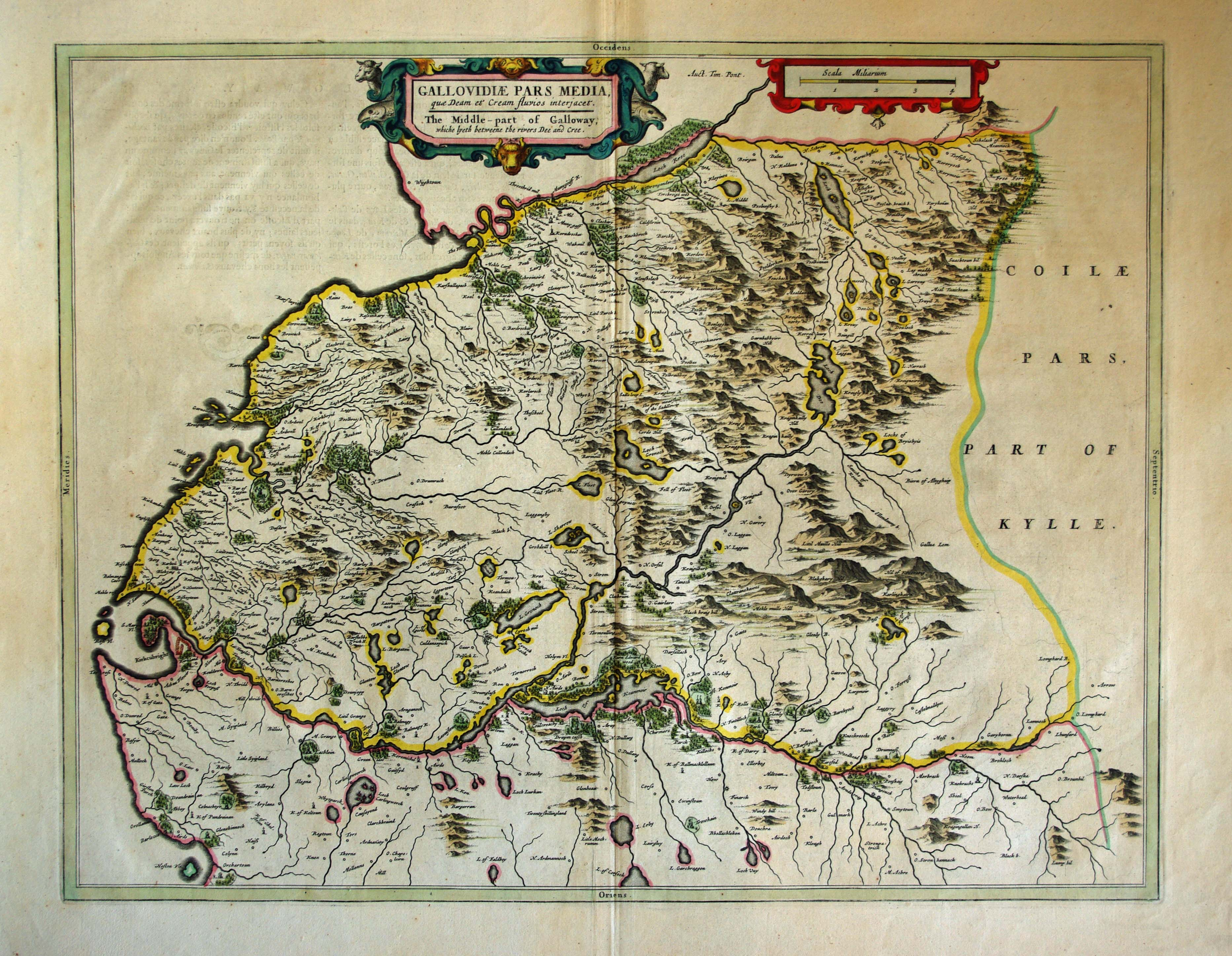 Blaeu's Mid Galloway, click for full res image