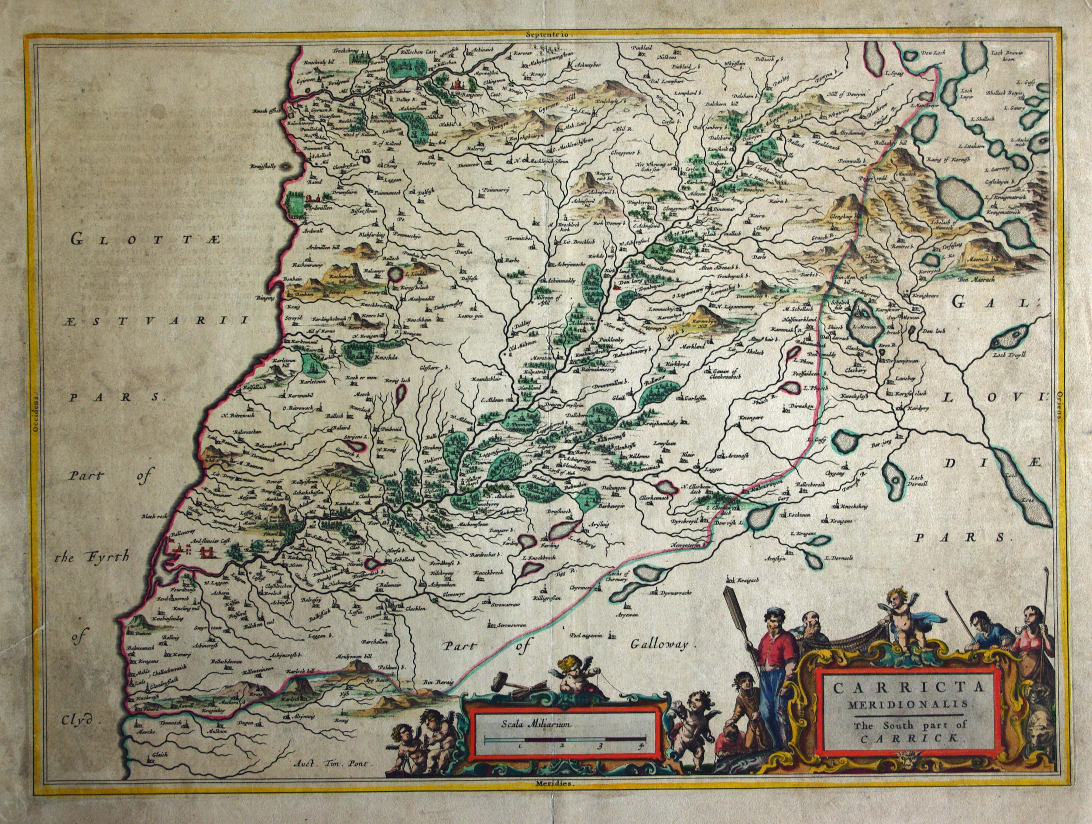Blaeu's map of South Carrick, click for full res image