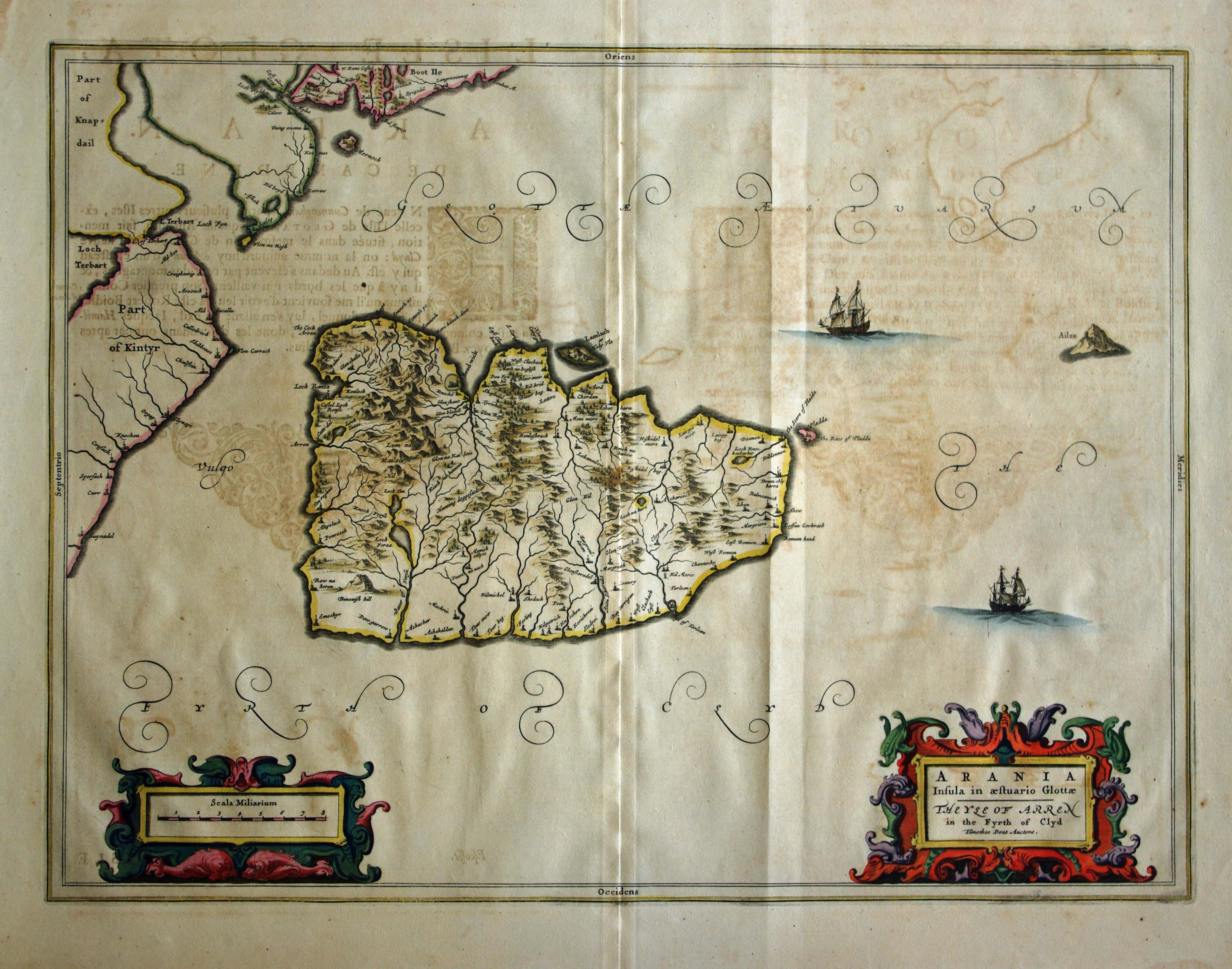 Blaeu's Arran, click for full res image
